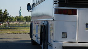 Bus Tour And Statue Of Liberty Royalty Free Stock Image