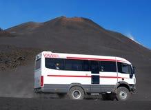 Bus touristique de l'Etna photo libre de droits