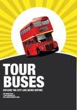 Bus touristiques Photographie stock libre de droits