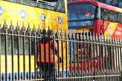 Bus touristiques d'Edimbourg photo libre de droits