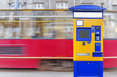 Bus, tram and train terminal for purchase of tickets  Royalty Free Stock Image