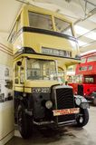 Bus and transport museum. Bus garage,transport museum,Semantic Information  Title:buses Note to editor: Keywords:bus, buses, transport, garage, public Stock Photo