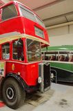 Bus and transport museum. Bus garage,transport museum,Semantic Information  Title:buses Note to editor: Keywords:bus, buses, transport, garage, public Royalty Free Stock Photography