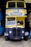 Bus and transport museum. Bus garage,transport museum,Semantic Information  Title:buses Note to editor: Keywords:bus, buses, transport, garage, public Stock Image