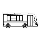 Bus transport passenger public outline Royalty Free Stock Image