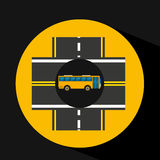 Bus transport public intersections road Stock Images
