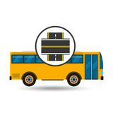 Bus transport public intersections road Royalty Free Stock Photos