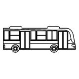 Bus transport urban public outline Stock Image