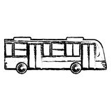 Bus transport vehicle sketch. Illustration eps 10 Royalty Free Stock Images