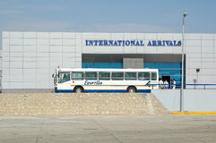 Bus for transportation of passengers in Hurghada Stock Image