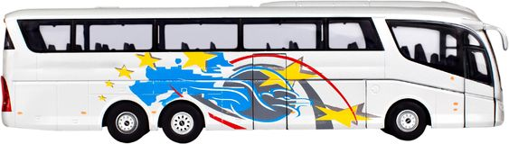 Toy or model charter bus. Bus transportation public transportation charter bus tour bus coach coach bus royalty free stock photo