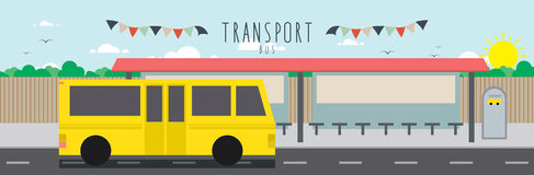 Bus (Transportation). Vector file useful, which about transportation royalty free illustration