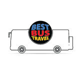Bus travel color vector Royalty Free Stock Photo