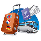 Bus travel Stock Image