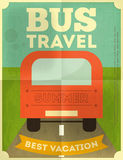 Bus Travel Poster Stock Image