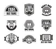Free Bus Trip And Trvel Tour Badge Logo Stock Photography - 89257742
