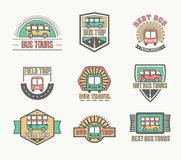 Free Bus Trip And Trvel Tour Badge Logo Royalty Free Stock Photos - 91643888