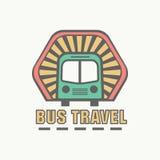 Bus trip and tour badge logo Royalty Free Stock Image