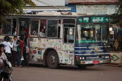 Bus trips in Myanmar Royalty Free Stock Images