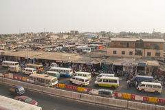Bus and tro-tro station at Kaneshi, Accra, Ghana Stock Photography