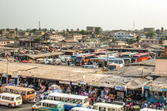 Bus and tro-tro station at Kaneshi, Accra, Ghana Stock Image