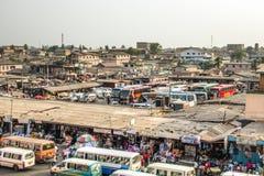 Bus and tro-tro station at Kaneshi, Accra, Ghana Stock Image
