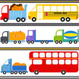 Bus, Truck Vehicles / Freight Transportation Stock Photo
