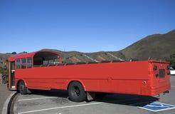 Bus turístico del rojo del aire abierto Fotografía de archivo libre de regalías