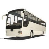 Bus turistico bianco isolato Immagine Stock