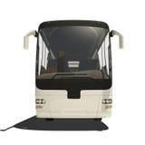 Bus turistico bianco isolato Fotografia Stock Libera da Diritti