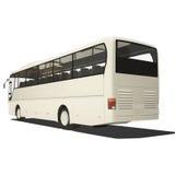Bus turistico bianco isolato Fotografie Stock