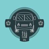 Bus van logo Lizenzfreies Stockfoto