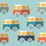 Bus, van repeat wallpaper pattern. Royalty Free Stock Images