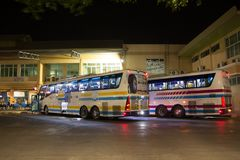 Bus van Sombattour-bedrijf Royalty-vrije Stock Fotografie