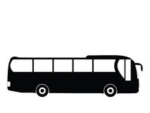 Bus vector. Silhouette a bus, vector illustration Royalty Free Stock Image