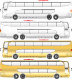 Bus vector  double deck. Bus vector double deck, white and yellow theme Royalty Free Stock Photography