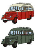 Bus. Vector drawing of classic old bus Stock Photo