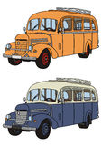 Bus. Vector drawing of the classic old bus Stock Image