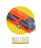 Bus Vector Icon in Isometric Projection Royalty Free Stock Image