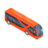 Bus Vector Icon in Isometric Projection Royalty Free Stock Images