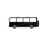Bus vector icon with spider web. On white Royalty Free Stock Images
