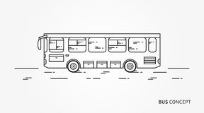 Bus vector illustration Stock Photos