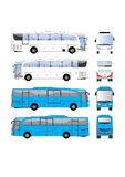 Bus vector template Royalty Free Stock Images