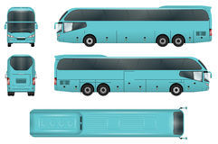 Bus vector template. Travel bus vector template. Coach  on white background. All elements in groups on separate layers. The ability to easily change the color Royalty Free Stock Photo