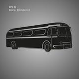 Bus-Vektorillustration der alten Weinlese amerikanische Retro- Personenkraftwagen Lizenzfreies Stockfoto