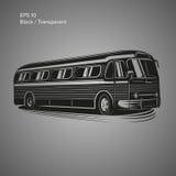 Bus-Vektorillustration der alten Weinlese amerikanische Retro- Personenkraftwagen Lizenzfreie Stockfotos