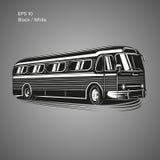 Bus-Vektorillustration der alten Weinlese amerikanische Retro- Personenkraftwagen Stockfotos