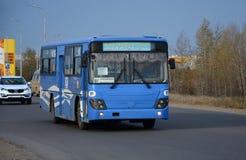 Bus, viaggiante a Komsomol'sk-na-Amure Fotografia Stock