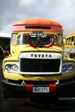 Bus vibrante verniciato in Samoa fotografie stock libere da diritti