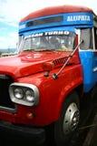 Bus vibrante verniciato in Samoa fotografie stock